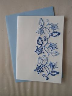 11 best embroidered greeting cards images on pinterest cards xmas embroidered christmas cards google search m4hsunfo