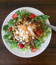 Easy Low Carb Cheeseburger Salad {THM-S} - My Montana Kitchen