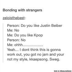 Bonding with strangers...| allkpop Meme Center