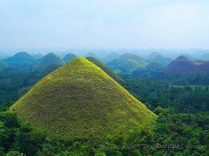 Chocolate Hills of Bohol, Philippines Exotic Beaches, Tropical Beaches, Heaven On Earth, Amazing Nature, Southeast Asia, The Good Place, Beautiful Places, Scenery, Places To Visit
