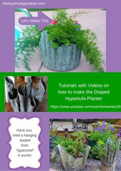 Make the Draped Hypertufa! I have directions and videos on the website. Click on link. The Hypertufa Gardener