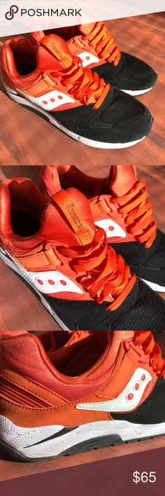 Saucony Grid 9000 White / orange / black Saucony. Only worn once, like NEW. Men's size 10.5. They come with the original box. Make an offer! Saucony Shoes Sneakers