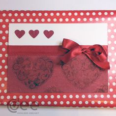 Valentine's day card for my husband. 2015 Hearts stamped on red handmade paper with silk strands. Strands, I Card, Valentines Day, Hearts, Husband, Stamp, Silk, Paper, Red