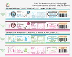 Printable Baby Food Jar (Custom Labels) Baby Shower/Baptism   Food jar