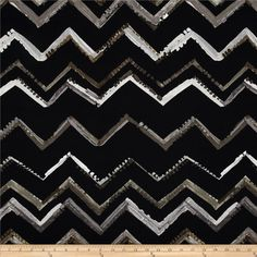 Contempo Hand Made Zig Zag Smoke from @fabricdotcom  Designed by Michele D'Amore for Benartex, this cotton print is perfect for quilting, apparel and home decor accents. Colors include shades of grey, pewter, cream, and black.