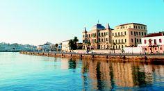 VISIT GREECE| #Spetses #Poseidonion Grand Hotel Battle Of Salamis, Visit Greece, Crete Greece, Grand Hotel, Archipelago, Countries Of The World, Greek Islands, Beautiful Landscapes, Athens