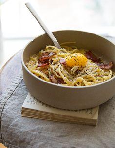 Spaghetti Carbonara a la Sweet Paul - http://www.sweetpaulmag.com/food/spaghetti-carbonara-a-la-sweet-paul #sweetpaul