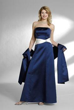A-line Strapless Satin Long Bridesmaid Dress     $180.99 Bridesmaid Dresses