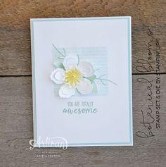 Botanical Blossoms CAS & sweet elegance A simple single flower - Artisan Design Team Blog Hop