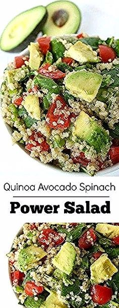 Easy Quinoa Power Salad with creamy avocado! One of our all-time favorite salads that's full of energizing, plant-based goodness. Chicken Salad With Grapes, Chicken Curry Salad, Chicken Salad Recipes, Salads For A Crowd, Easy Salads, Power Salat, Salad Recipes Healthy Lunch, Mediterranean Quinoa Salad