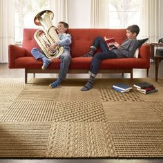 Sweater Weather Rug. I love this company, Flor. Carpeted tiles to mix, match and place however you want!