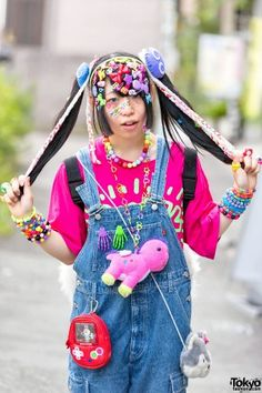 Harajuku Decora Fashion Walk – Style is art Asian Fashion, Seoul Fashion, Weird Fashion, Japanese Street Fashion, Colorful Fashion, Cute Fashion, Tokyo Fashion, Harajuku Girls, Harajuku Fashion