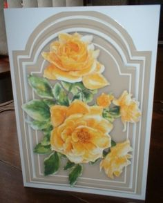 Beautiful Yellow   Roses on Taurpe  Mat  by Gill Dean