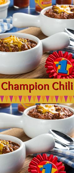 This will definitely be the grand champion at your dinner table! Our Champion Chili is a hearty, one-pot recipe that's packed with ground beef and veggies. Every bowl will be brimming with all sorts of goodness. Beef Casserole Recipes, Ground Beef Casserole, Chili Recipes, Healthy Ground Beef, Ground Beef Recipes For Dinner, Fun Easy Recipes, Quick Easy Meals, Slow Cooker Ground Beef, Gumbo Soup