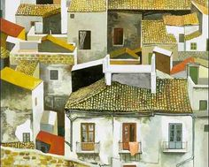 Renato Guttuso ❣❖✿ღ✿ ॐ ☀️☀️☀️ ✿⊱✦★ ♥ ♡༺✿ ☾♡ ♥ ♫ La-la-la Bonne vie ♪ ♥❀ ♢♦ ♡ ❊ ** Have a Nice Day! ** ❊ ღ‿ ❀♥ ~ Sat Sep 2015 ~ ~ ❤♡༻ ☆༺❀ . Italian Painters, Italian Artist, Gino Severini, Cityscape Art, City Landscape, Renoir, Great Artists, Home Art, Modern Art