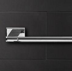 "Modern Towel Bar- (2) 30"" Towel Bar in Polished Nickel located in office"