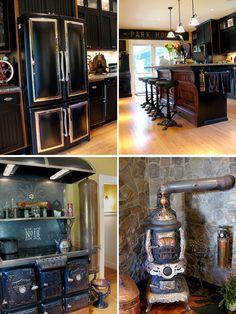 steampunk kitchen idea 2 looove that fridge and stove