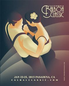 California Balboa Classic 2014 - Vintage Poster #poster #vintage #swing #graphic #lindyhop #illustration
