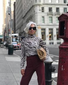 My style rules: grece ghanem in 2019 fall winter outfits Mature Women Fashion, Urban Fashion Women, Black Women Fashion, Womens Fashion, Stylish Outfits For Women Over 50, Clothes For Women, Fashion Over 40, Star Fashion, Fashion Edgy