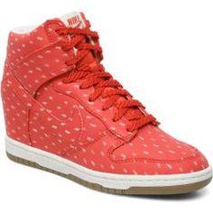 Nike Wmns Dunk Sky Hi Print Tenis moda para Mujer   Rojo edcdf3f3a757d