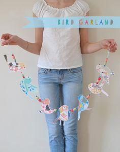 DIY Bird Garland