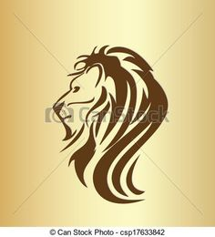 Картинки по запросу профиль льва рисунок
