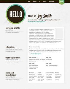 Wordpress themes - resume