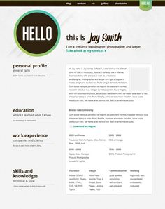 Wordpress themes - resume
