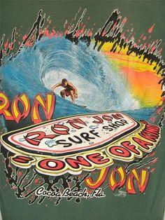 Mens Medium Ron Jon Surf Shop Green Pocket T Shirt Cocoa Beach FL 1994  Vintage  18.81 f9525d9acfc