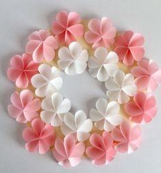 Super easy DIY paper flower wreath - fun spring craft for kids // Egyszerű tavaszi papír virág koszorú - papír virágok körökből egyszerűen // Mindy - craft tutorial collection // #crafts #DIY #craftTutorial #tutorial