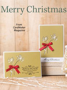Merry Christmas from the Winter 2016 issue of CardMaker Magazine. Order a digital copy here: https://www.anniescatalog.com/detail.html?prod_id=133852