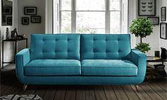 7 Gorgeous Living Room Sofa Design Ideas For Cozy Home Living Room Sofa Design, Living Room Furniture, Living Room Decor, Sofa Retro, Lounge Bar, Living Room Turquoise, Retro Interior Design, Buy Sofa, Retro Home Decor