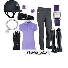 Purple and Samshield Summer! by rider-chic on Polyvore featuring Ralph Lauren Blue Label, Ariat, Hermès, MARC BY MARC JACOBS, Tiffany & Co., Roeckl, Ralph Lauren and equestrian