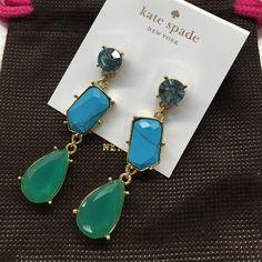 KATE SPADE  EARRINGS Brand new Kate Spade crystal Fiesta earrings. Ask any questions NO TRADES kate spade Jewelry Earrings