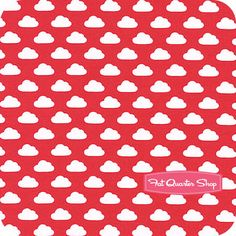 Toy Tales Red Clouds By Melly and me for Windham fabrics
