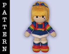 Amigurumi Rainbow Brite 2.0 doll by ShadyCreations - pattern available on Ravelry, pattern and completed doll available on Etsy.