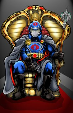 Cobra Commander colors by *MichaelLangdale on deviantART Cartoon Clip, Cartoon Tv Shows, Snake Eyes Gi Joe, Spiderman, Cobra Commander, Storm Shadow, Gi Joe Cobra, War Comics, Japanese Anime Series
