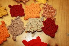 Once Upon a Family: Crochet Autumn Leaves