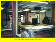 The Goss press filled the southwest side of the Studio.