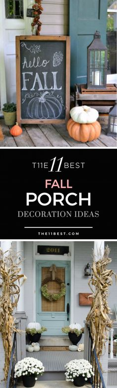 What better way to celebrate the arrival of a new season than by hosting a fall party with family and friends? Welcome guests into your home by decorating your front porch and door with festive decor, like an autumn wreath or potted mums. These fall porch decoration ideas are sure to inspire!