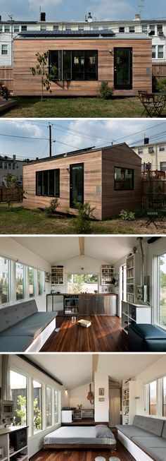 The Minim Micro Home is Brian Levy's vision of combining sustainability and style. This 210 sq.ft. modern tiny house uses structural insulated panels (SIPs) for the walls and roof, allowing for better energy efficiency and soundproofing.