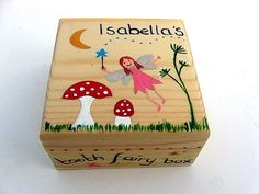 Children's Personalised Tooth Fairy Box by funkyforesthome on Etsy
