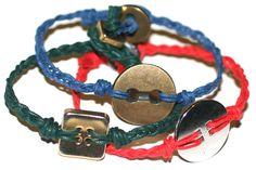 diy button bracelet via @ispydiy
