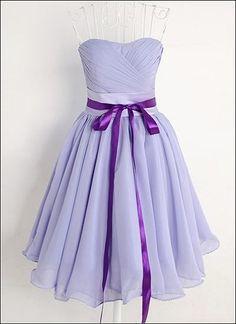 Brautjungfernkleid in Lavendel