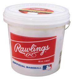Rawlings Bucket 2 Dozen OLB3 Baseballs Sports Outdoor Kid Play Leather Train New #Rawlings