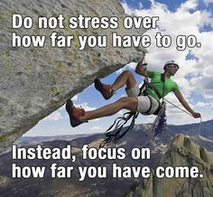 MCAT motivation: Do not stress over how far you have to go. Instead, focus on how far you have come.  Need MCAT prep help? Talk to us and see what MCAT courses and study tools are suited for you. Visit http://www.mcat-prep.com/