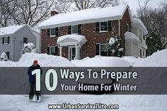 10 Ways to Prepare Your Home for Winter. your home helps to save money. But from a prepper's perspective, many of the things on this list will make your home much more livable should the power be knocked out for an extended period of time. Survival Supplies, Survival Skills, Winter House, Winter Garden, Cool Camping Gadgets, Urban Survival, Urban Homesteading, Winter Is Here, Backyard Landscaping