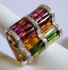 Bellarri Ultimate Color Diamond & Multi-Gemstone Ring R8282/M - $1995