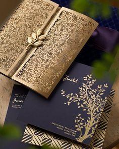 Laser cut wedding invitations- rose gold gates please!
