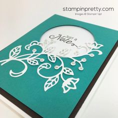 Simple Saturday Card with a Flourish & a Video! | Mary Fish, Stampin' Pretty The Art of Simple & Pretty Cards | Bloglovin'